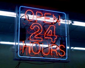 Open 24 hours art photo by Eclectic Forest photo by Steven Brincat