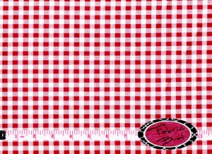 Red and white picnic fabric by Fabric Brat