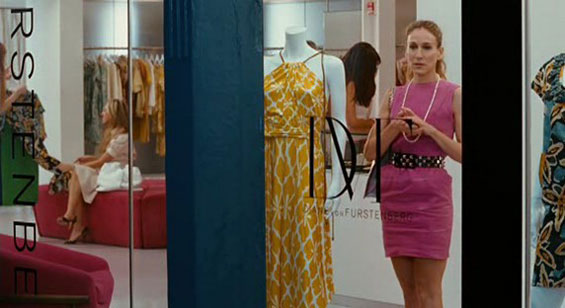 Carrie at DVF's showroom