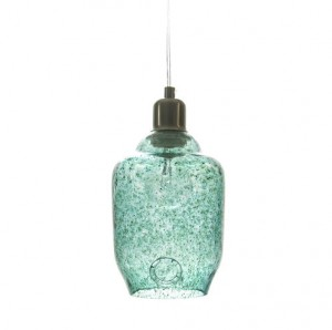 Turquoise glass lamp by gie el