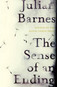 The Sense of an Ending by Julian Barnes; book cover by Suzanne Dean, image via here