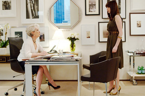 Miranda Priestly's office in The Devil Wears Prada (20th Century Fox)
