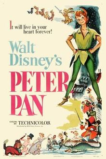 Disney Peter Pan release poster via wikipedia