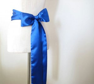 Blue satin sash by ccdoodle