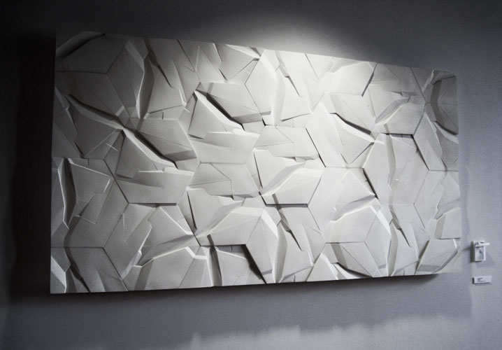 Tectonics modular wall installation by Bartek Mejor
