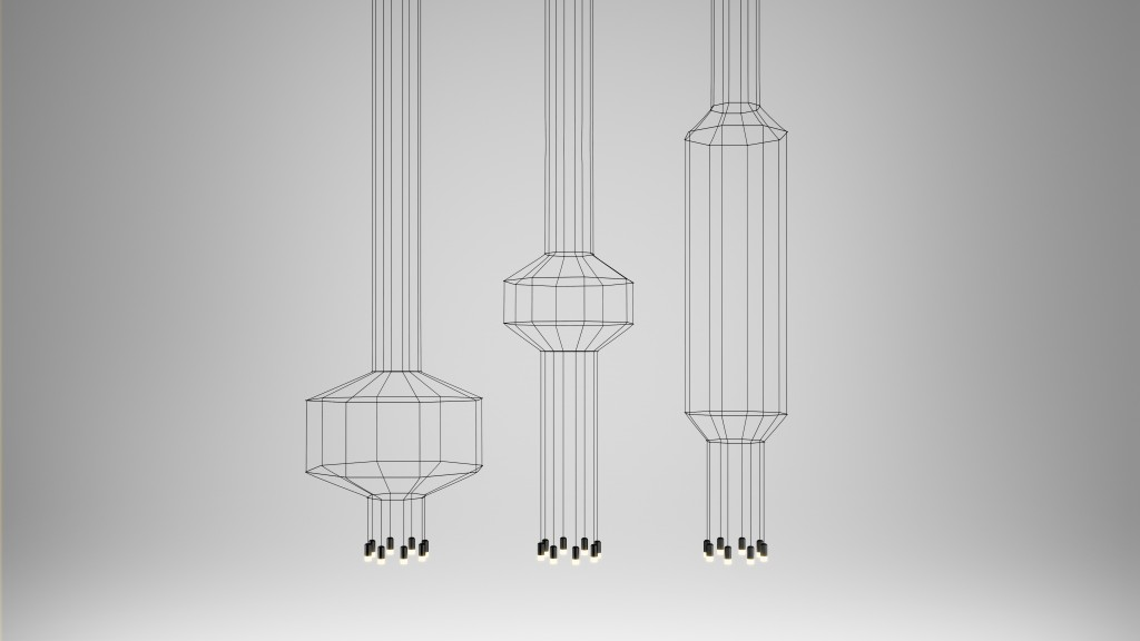Wireflow lamps by Arik Levy for Vibia
