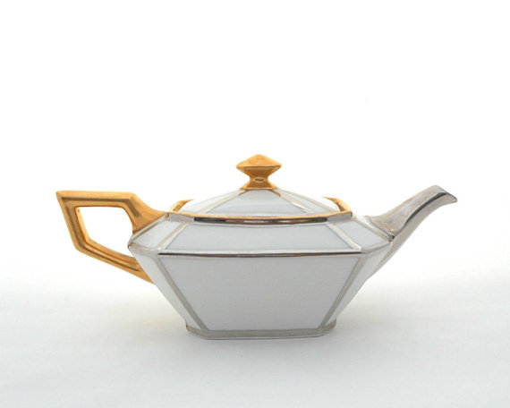 Wonderful Antique Porcelain Teapot by Rosa Meyer Collection