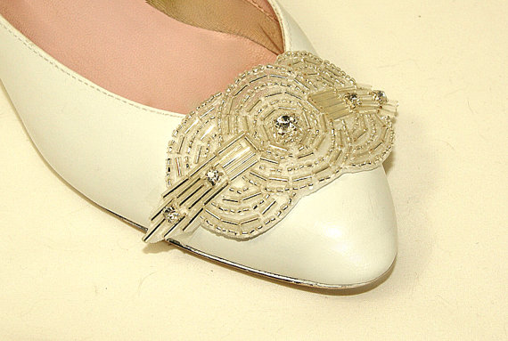 Art deco bridal shoe clip by BridalEnchantment