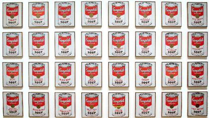 Andy Warhol's Campbell's Soup Cans (MoMA) via Wikipedia