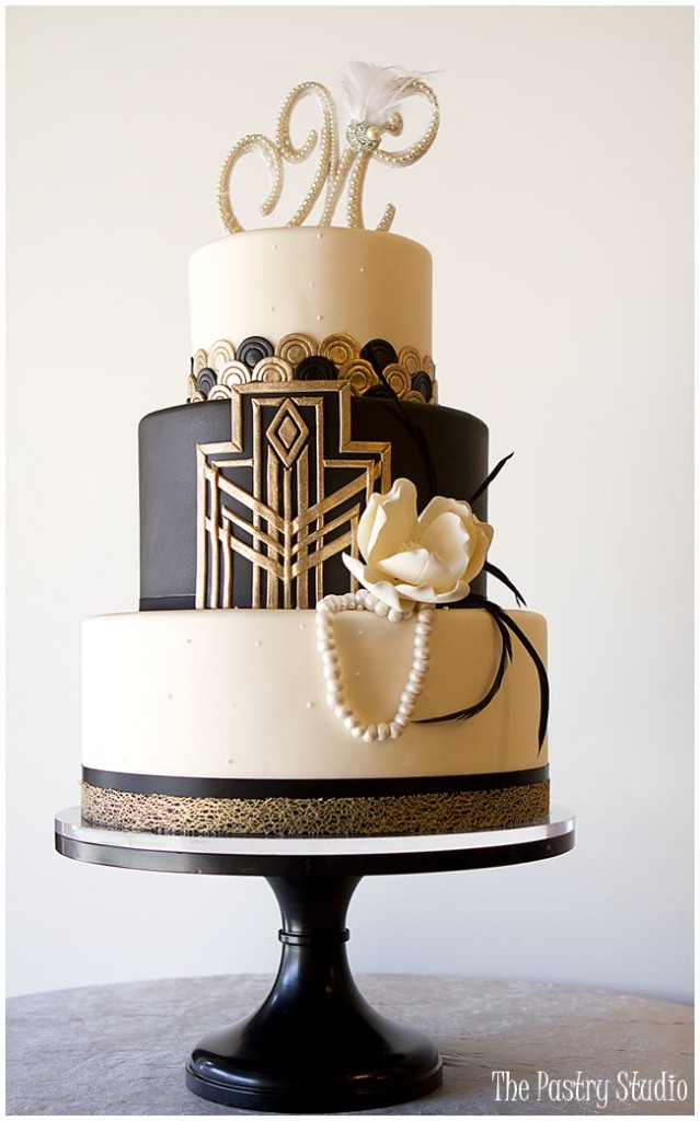 Gatsby style wedding cake by thepastrystudio.com