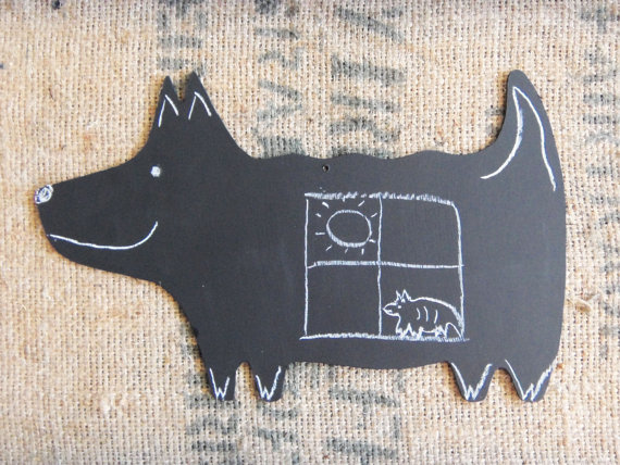 Large chalkboard dog by ChalkStyle