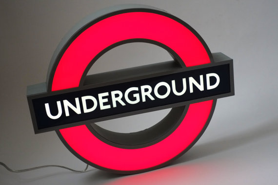 London underground light sign by woodandroot