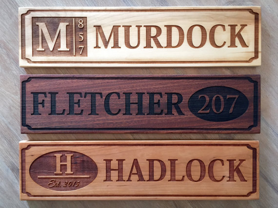 Personalized house numbers by AmericanLaserCrafts