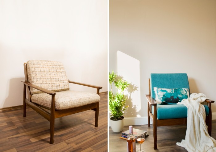 Rosanna armchair before and after by Modoo Home