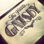The Great Gatsby lettering by mya21 via flickr.com