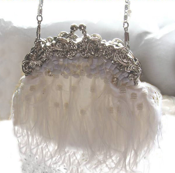 An absolute must have - White handbag by AntiqueLaceHeirlooms
