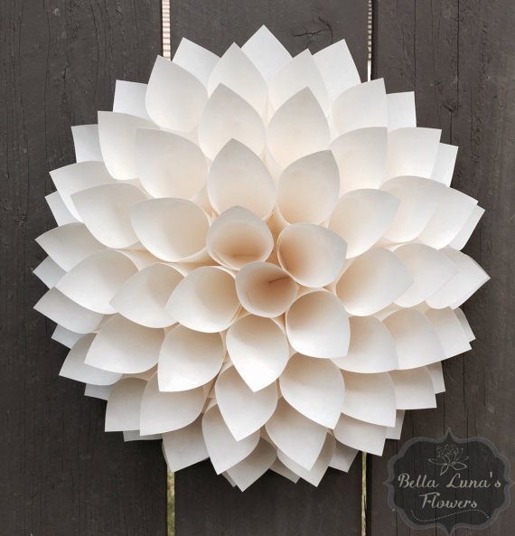 Paper Dahlia by BellaLunasFlowers