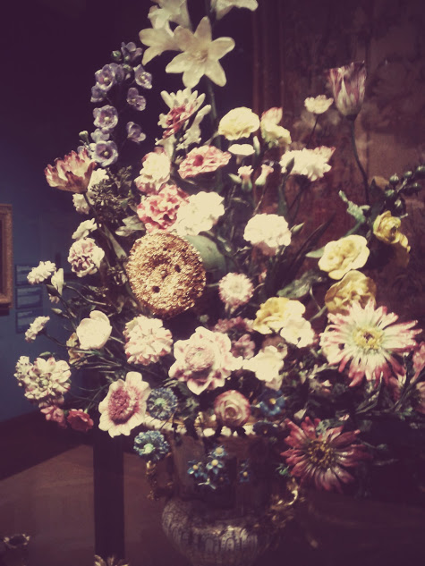 Porcelain Clock - Painting Paradise: The Art of the Garden exhibition at Buckingham Palace