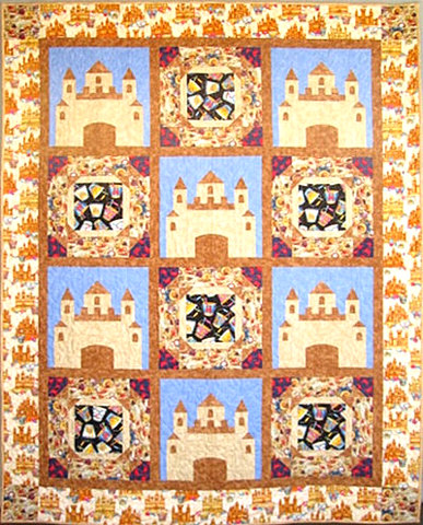 Sandcastle quilt by CaringQuilts