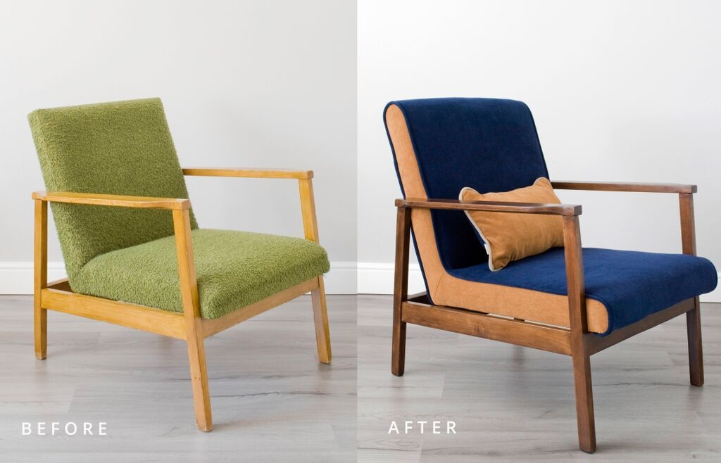 Armchairs - before and after