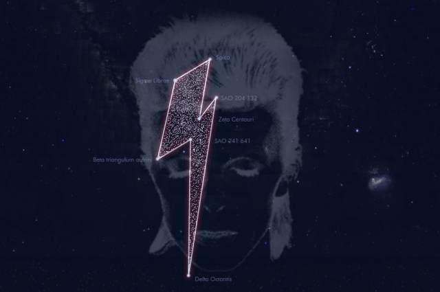 Bowie - a star constellation; image via