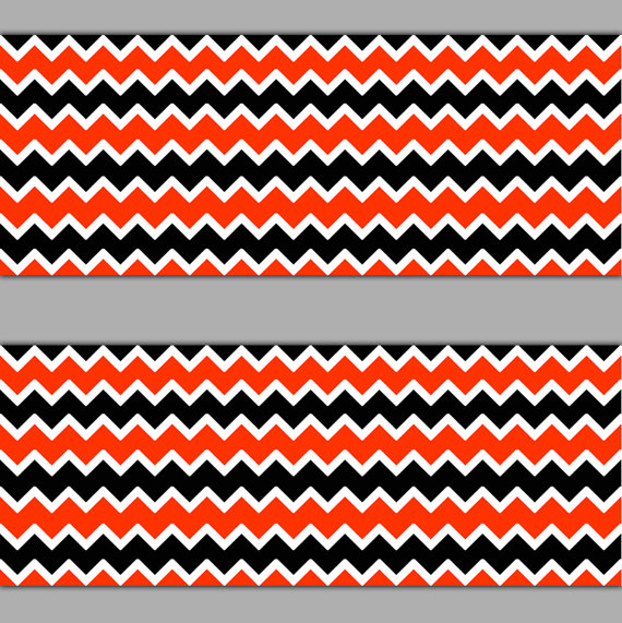 Black and red chevron wallpaper border by decampstudios