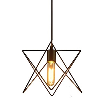 Vintage chandelier black star