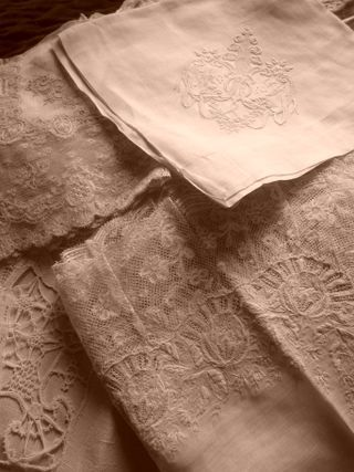 Antique French lace via Pinterest