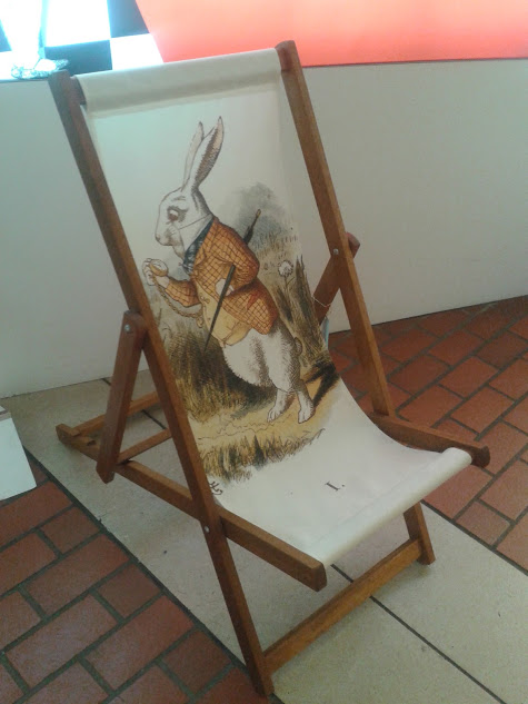 Alice in wonderland deck chair at BL