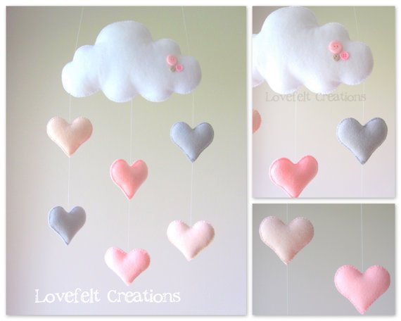 Heart mobile by lovefeltmobiles