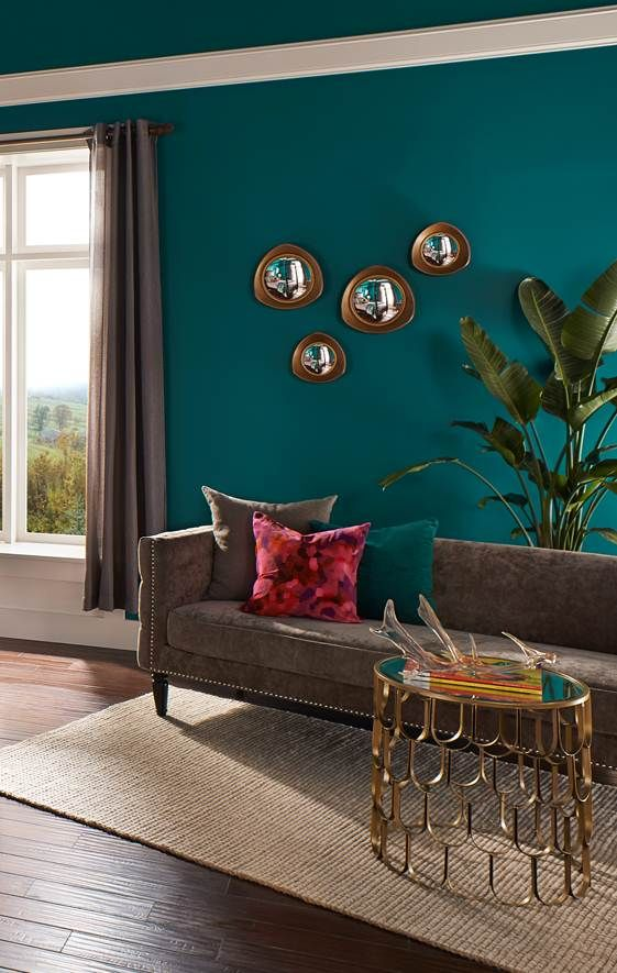 Rich teal wall - via Pinterest