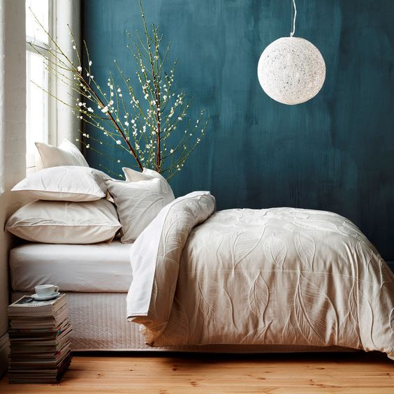 Teal wall - via Pinterest