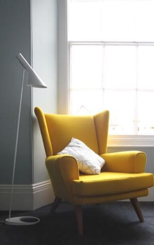 Yellow chair - via Pinterest