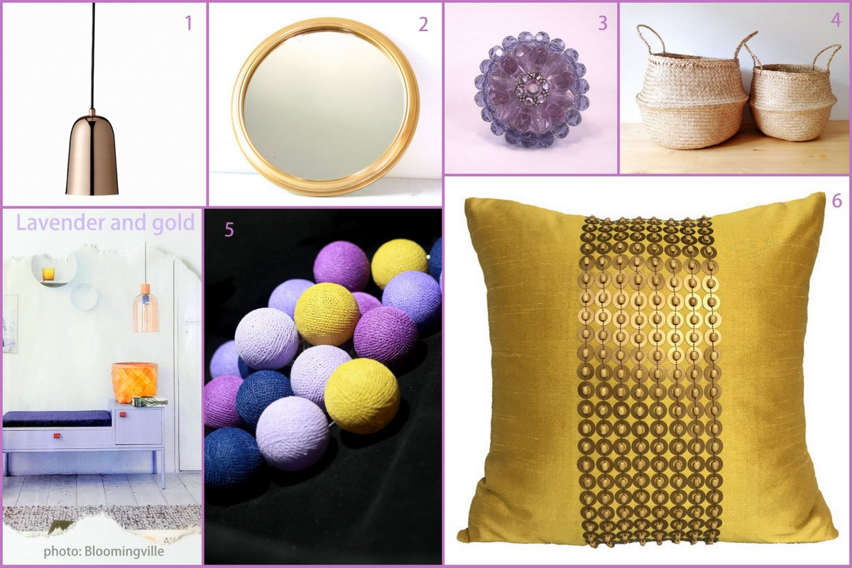 top colour trends lavender and gold