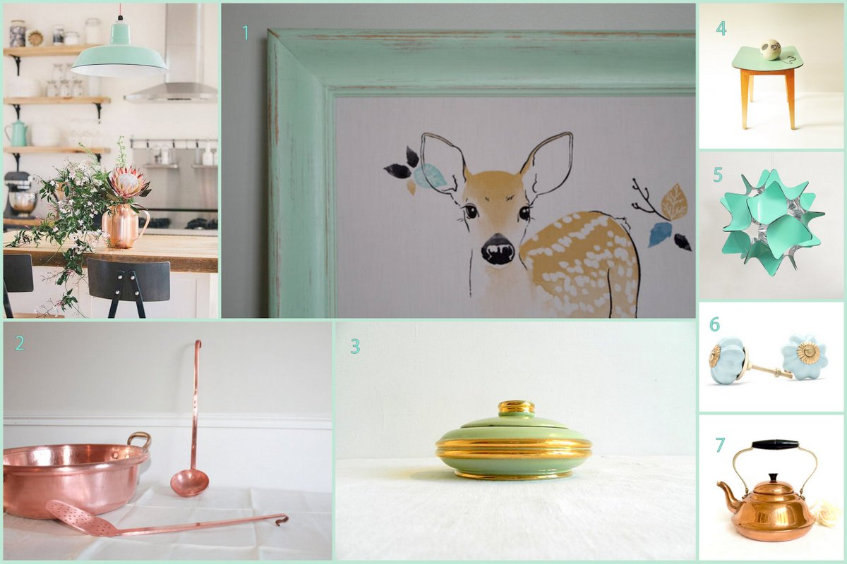 top colour trends mint and copper
