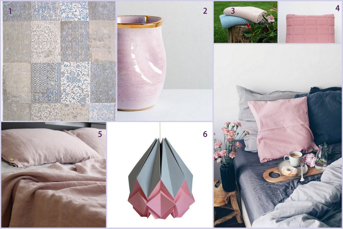 top colour trends rose pink and dove grey