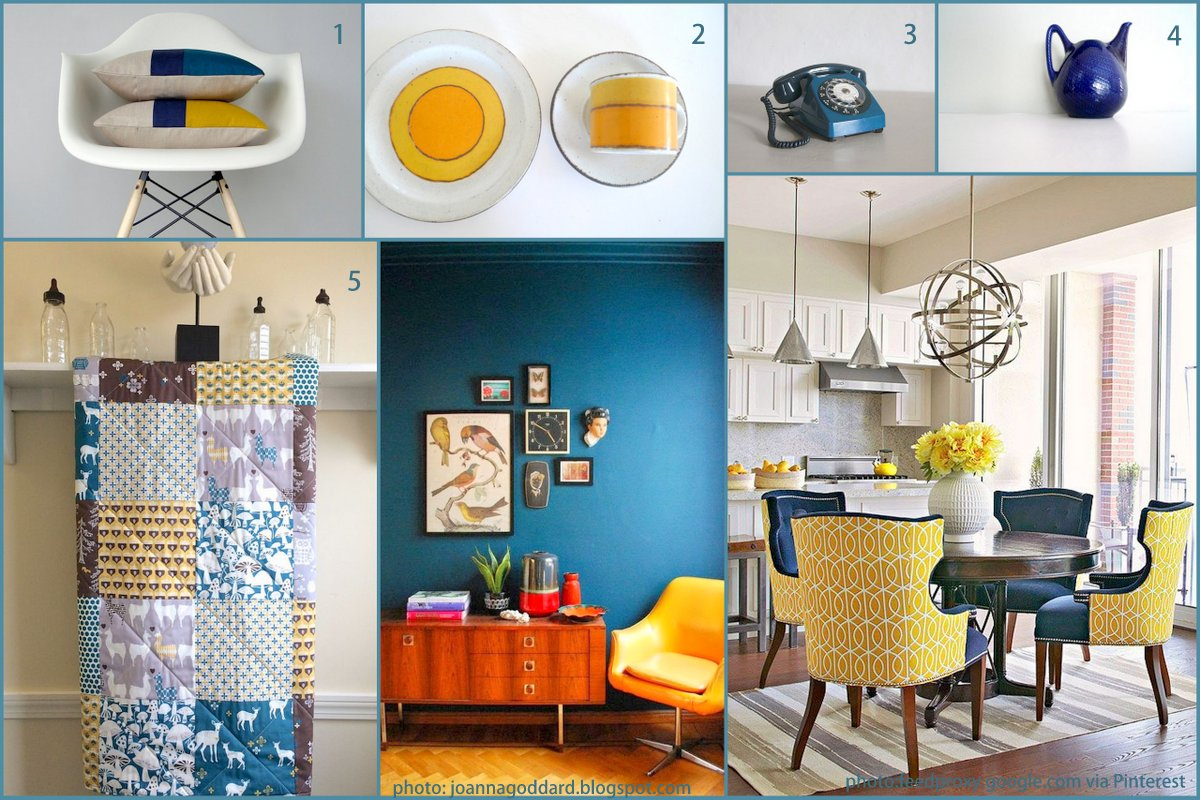 top colour trends teal and mustard