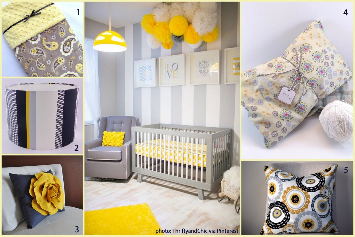 top colour trends yellow and grey