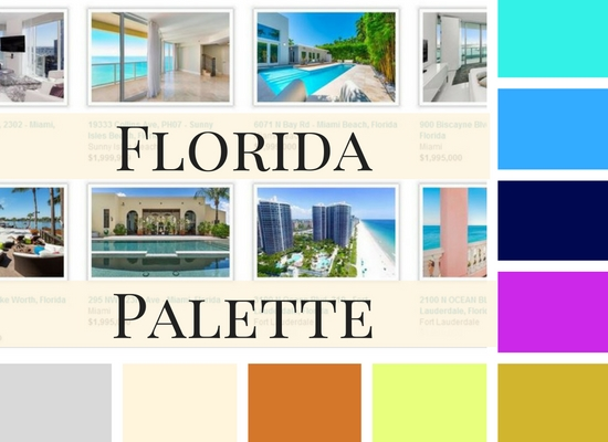 Florida properties via Douglas Elliman; colour palette by interiormad.com