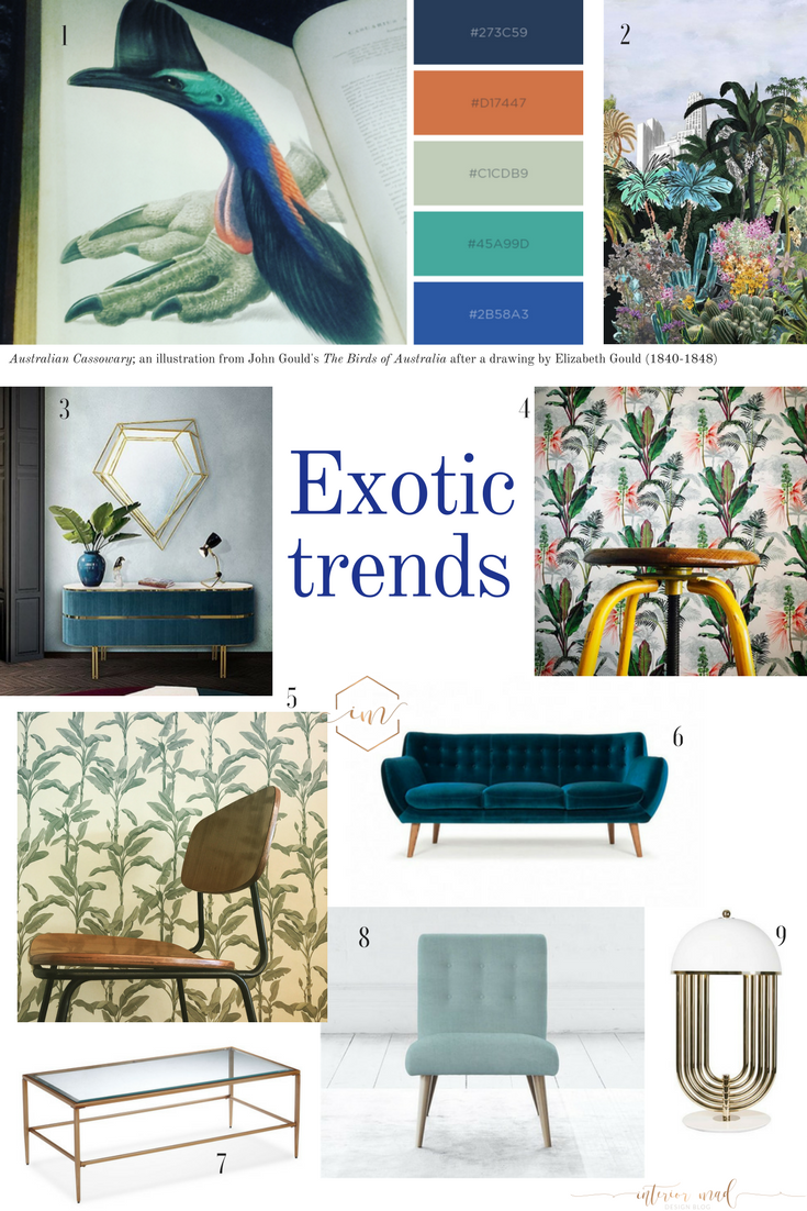 exotic trends in interiors